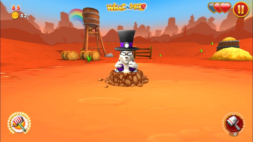 Whack.a.Mole bílý krtek
