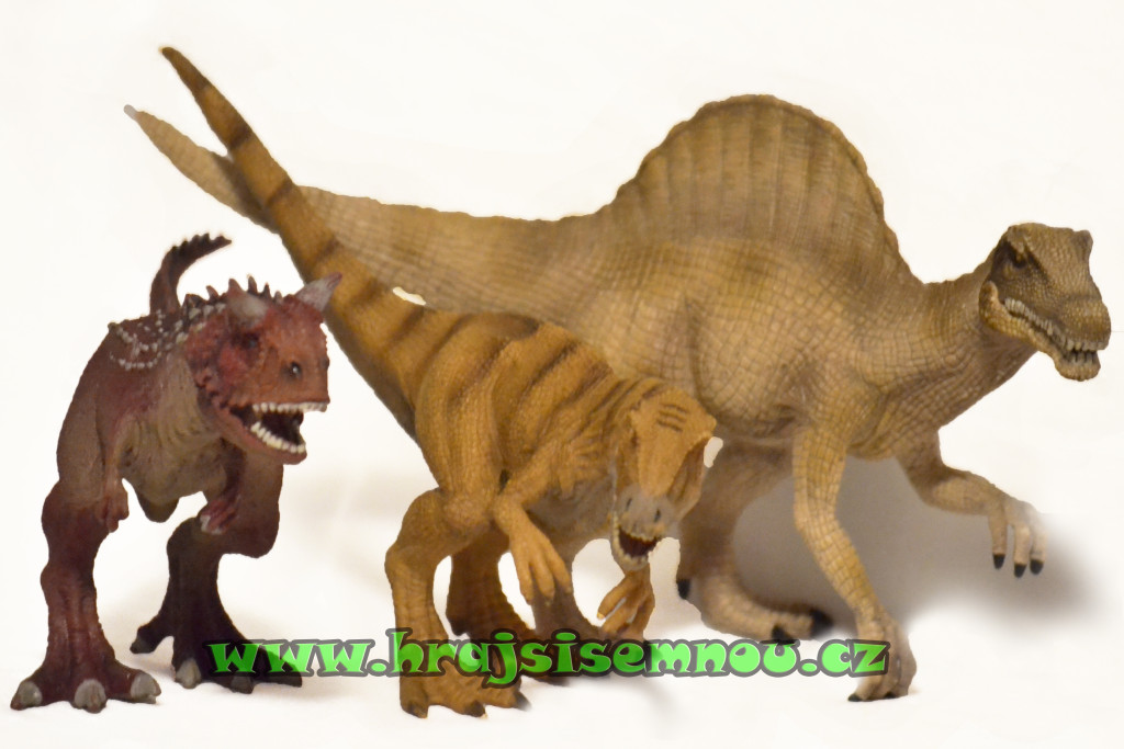Karnotaurus, Allosaurus, Spinosaurus