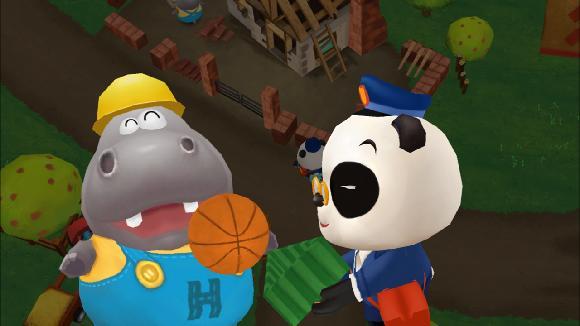 pošťák Panda - doručuje balíček