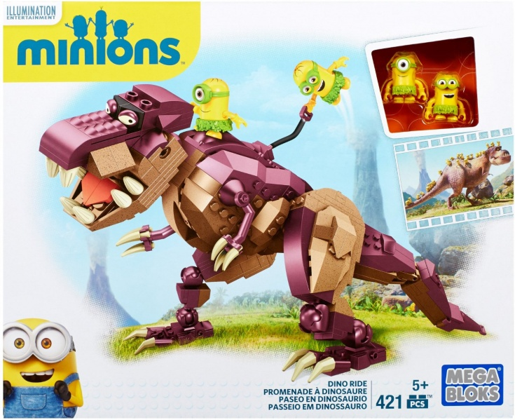 recenze: Mega Bloks Minions Dino Ride