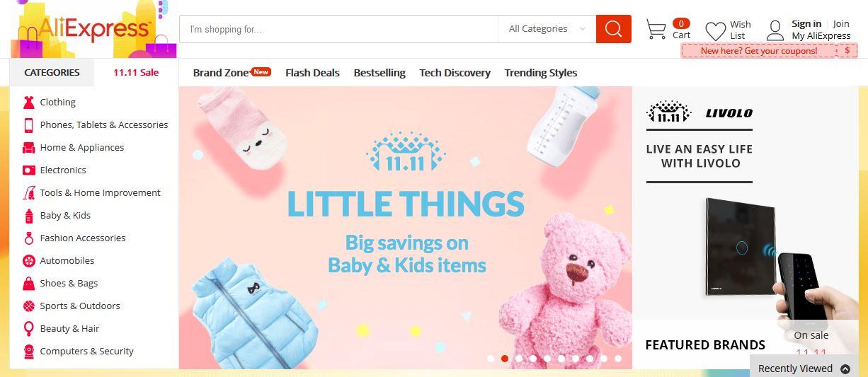 Dětské zboží z čínského e-shopu?